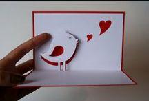 DIY:paper craft -kirigami (pop up cards)
