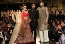 Manish Malhotra at India Couture Week 2014 / India Couture Week saw an ethereal collected titled Portraits by Manish Malhotra. While Kashmiri Zari work was the highlight of the collection, we loved the gold dust embroidery and jewel-toned palette