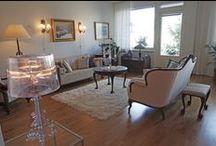 Olohuoneessa / Leppoisia, nättejä, ihania, söpöjä, kauniita, kodikkaita olohuoneita.