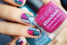 Nails with colors and beautiful shapes - Hermosas uñas con formas geometricas y muchos colores / Nails with colors and beautiful shapes - Hermosas uñas con formas geometricas y muchos colores