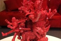 Toys Second Life / Jouets de récupération, devenus sculptures Pop. Art