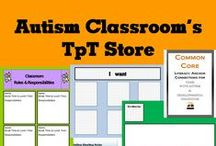 Teachers Pay Teachers (TpT) Autism Classroom Store / Items from the Autism Classroom Teachers Pay Teachers Store. Autism books. Materials for teaching and classroom organization. TpT autism products and lessons. #tpt #autism