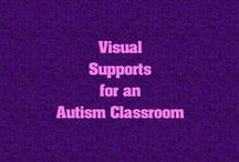 Visual Supports for an Autism Classroom / Visual supports and pictures for an autism classroom or for those supporting a child with autism in the home.