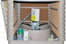 Evaporative cooling products / All evaporative cooling products we have and where they have been used.