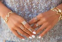 Mix and Match Gold Jewelry / Gold necklaces. Charms. Bracelets. Temporary tattoos. Rings. All things gold!