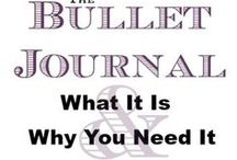 Bullet Journal / Creativity and organization coming together. A Bullet Journal is a great way to stay organized and put together. Here are some awesome bullet journal layout ideas to inspires you.
