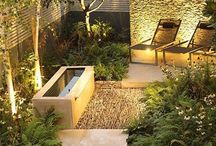 The garden at night / Make the most of your garden space by lighting it up for the evenings.