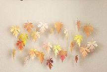 Couleurs d'automne / Fall colors / Les couleurs de l'automne dans la déco.