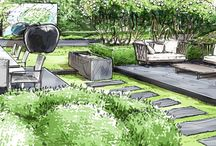 Garden Design Drawings / Ideas for ways to  illustrate your garden design project.