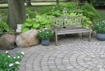 Patio and driveway ideas / Landscaping ideas for patios and driveways.