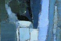 Couleur bleue /Blue / Différentes nuances de bleu que j'aime particulièrement.
