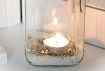 Bougies / candles / C'est la touche finale indispensable à une décoration.