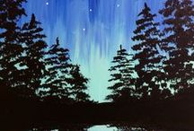 christmas paintings / what to paint for christmas, gift ideas