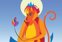 Year of the Fire Monkey 2016 / The Red Fire Monkey is a mascot and a protector of 2016 year