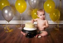 Cake Smash Session Ideas / Ideas for your child's 1 year cake smash portrait session