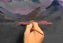 Bob Ross pintando