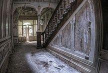 Casas, mansões -Interiores abandonados