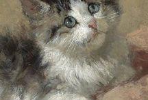 Gatos - pinturas desenhos