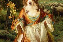 Pinturas Cães/ Pessoa
