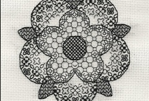 Blackwork / This is one of my favorite counted thread techniques.
