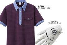Men's Golf Apparel / A variety of men's golf apparel.