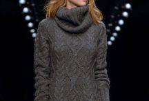 """Вязание. Платье """"Серый шик"""""""