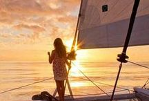 Sailing Sunsets / travel, traveling, vacation, holidays, sail, sailing, yacht, yacht party, luxury, luxury yachts, rent a yacht, boat, adventure, travel destinations, sea, travel goals, sailing sunset, sunset