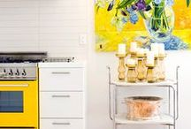 Yellow in decor