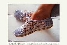 shoe and slipper pattern / cipők, házicipők