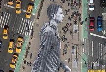 Streetart / Art changing urban landscapes.
