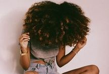 Natural Hair Styles & Colors