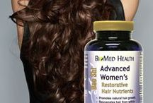 Healthy Hair / BioMed Health's restorative nutrients are a proprietary whole herb formula with additional key nutrients to nourish hair follicles and scalp from within.  It stimulates natural hair growth, promotes fuller, faster growing hair, helps to reduce graying and has anti-aging effects to the hair, as well as skin.