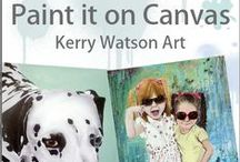 Paint it on Canvas / Your photo's hand painted onto canvas by Kerry Watson www.paintitoncanvas.co.uk