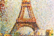 USD Eiffel Tower / Eiffel Tower was erected 1889 and Claude Monnet painted this image two years later. When You turn it sideways- any similarities?