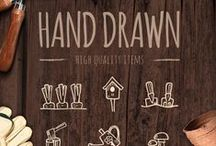 Hand Drawn / Beautiful hand-drawn typography and graphic design.