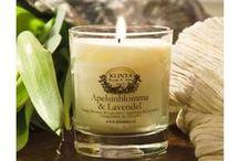 Duftlys / Scented candles / Duftlys / luktelys i eksklusive varianter, fra Volsupa, Klinta og flere.