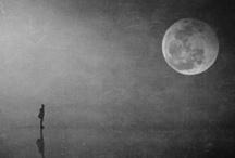 """Signora Luna / """"Signora luna che mi accompagni  per tutto il mondo  puoi tu spiegarmi  dov'è la strada che porta a me forse nel sole  forse nell'ombra  così par esser  ombra nel sole  luce nell'ombra  sempre per me....""""  / by Nicola Bonamini"""