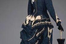 Bustle / Móda doby turnýry 1870 - 1889