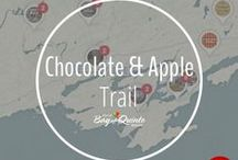 Chocolate & Apple Trail / The #BayofQuinte region has a special relationship with chocolate and apples...
