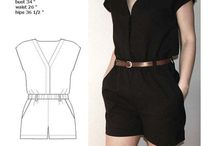 Sewing inspiration - jumpsuits / Jumpsuits - Inspiration and patterns for sewing projects