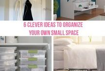 ❀ Organize Small Space ❀ / declutter, organizing ideas, efficient home