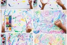❀ Homeschool Arts & Crafts ❀ / pre-K & K activities, creativity for kids, fun projects, art center