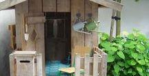 ❀ Backyard Play For Kids ❀ / playhouse, backyard fun for kids, DIY outdoor play
