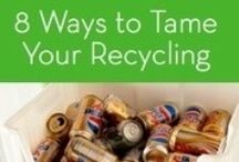recycle: bins, tips,