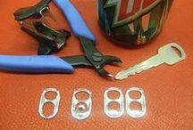 reuse: metal pop tabs