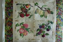 A Peicing, appliqué, embroidery and quilting