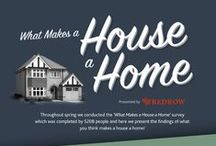What Makes a House a Home / We understand that the home is pretty personal to each of us, and we wanted to find out what you care about most, from who you prefer coming home to, to who your ideal dinner guest is. Here we present your views and habits, including what you think really makes a house a home. #whatmakesahouseahome