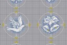 HAFT krzyżykowy / krzyżykowya haft, szblony