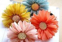 KWIATY z materaiału / Kwiaty z materiału, kwiaty ze wstążki,