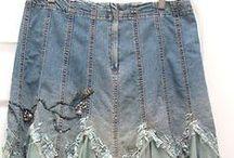 Jeans / szycie z dżinsu, przeróbki, spódnice, ubrania, torebki